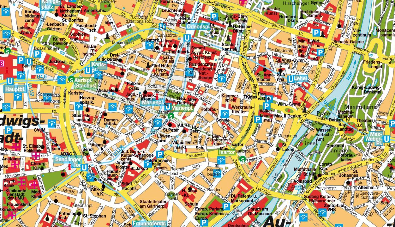 Maps Update 1214748 Munich City Map Tourist Munich